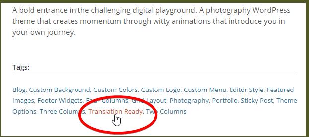 тег готовности к переводу на сайте WordPress