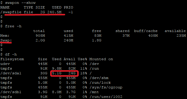 находим файл подкачки ubuntu