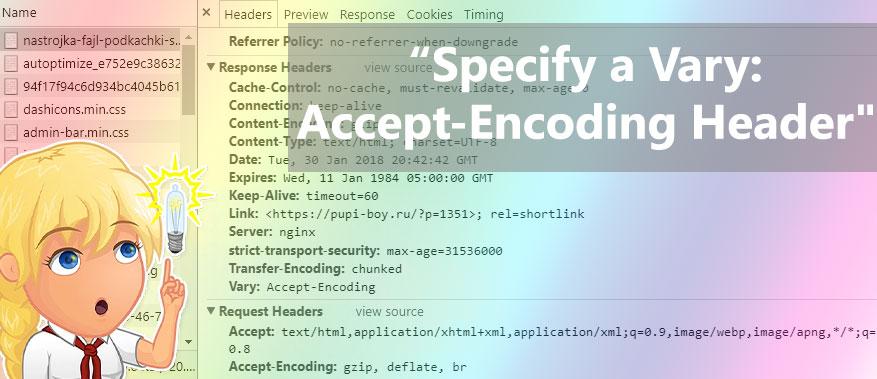 """Исправляем предупреждение """"Specify a Vary: Accept-Encoding Header"""""""